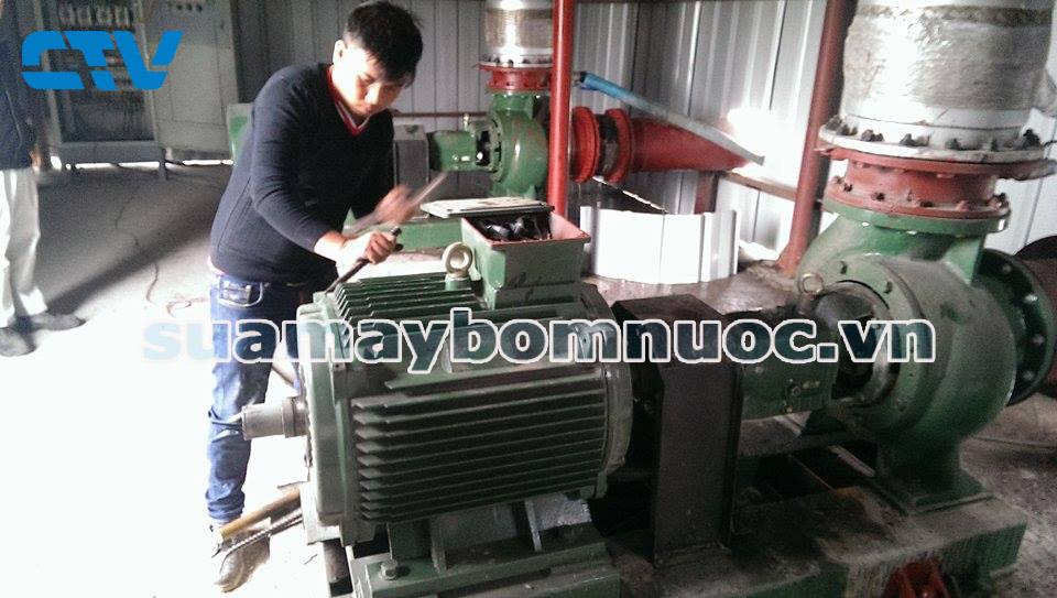 Kỹ thuật sửa máy bơm công nghiệp tại nhà máy thép Hoà Phát Hải Dương