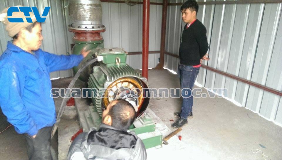 Sửa máy bơm công nghiệp tại nhà máy thép Hoà Phát Hải Dương