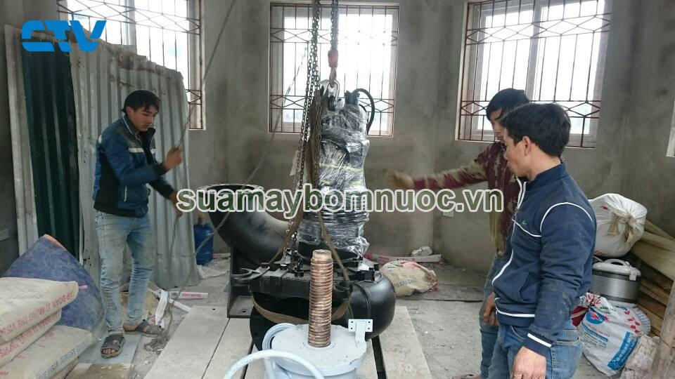 Lắp đặt máy bơm nước thải ở Hồ Ngọc Khánh